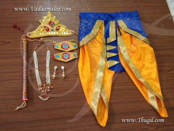 Fancy dress Krishna costume for Kids with Accessories KrishnaCostume Buy Online