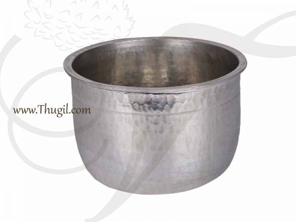 Tin Vessel Eeya Sombu for household Rasam Curd 3 inches, 1 liter Buy online