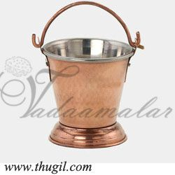 Indian Display Traditional Copper Coated Bucket Vali Buy Now 5