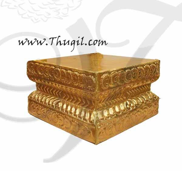 Brass Pedestal Manai Gold Plated Buy Online 7 inches