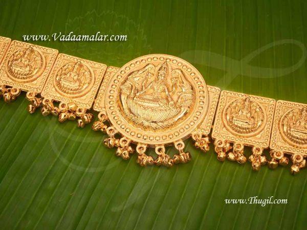 Goddess Lakshmi engraved traditional Indian waist hip belt Odiyanam