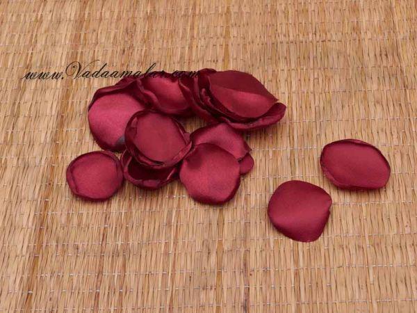 Rose Petals Maroon Burgundy Cloth Flower Petal Decoration Crafts Online Buy Now 300 petals