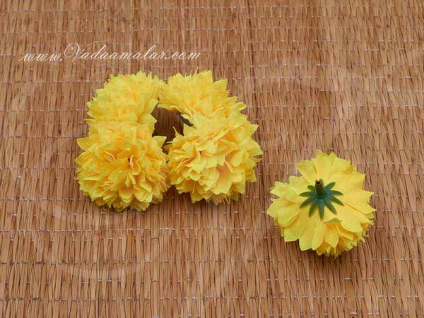 Yellow Sampangi Flowers Craft Artificial Flower pack of 20
