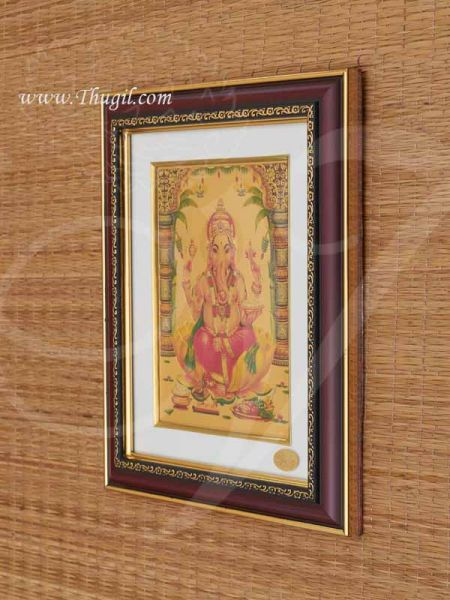 11 inches Ganesha Gold Plated Photo Frame Ganapathy Gift Buy Online