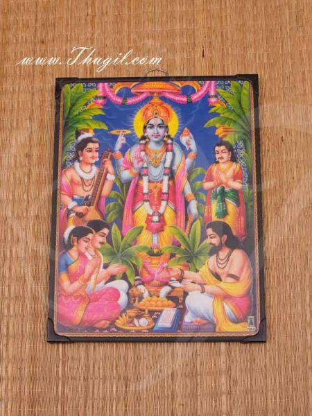 Photo Frame Lord Satyanarayana Swamy Vishnu Avatar Laminated Buy Now 11