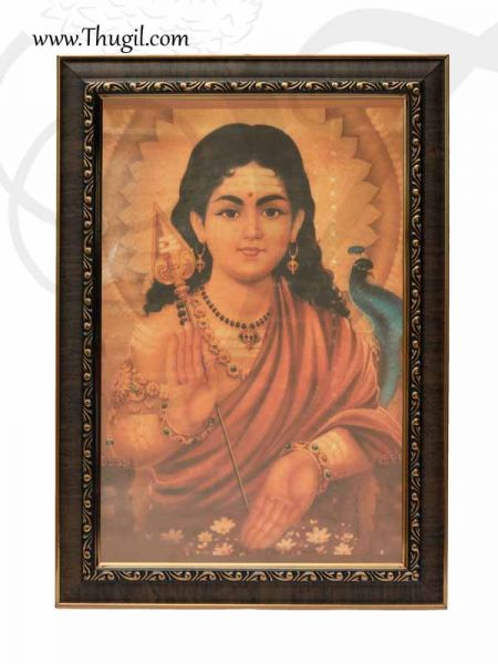 Murugar Photo Frame For Puja and Decorations Buy Online 14 inches