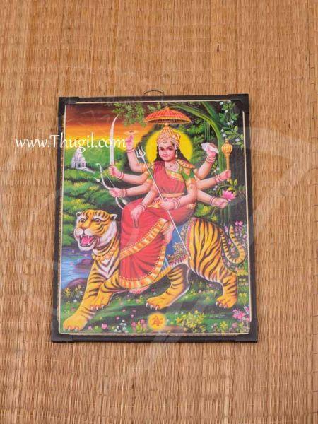 Photo Frame Goddess Durga Devi Shakthi Amma Laminated Picture Buy Now 11