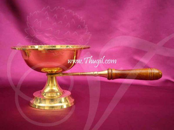 Aarti Dhoop Brass Wooden Handle Buy Now -11