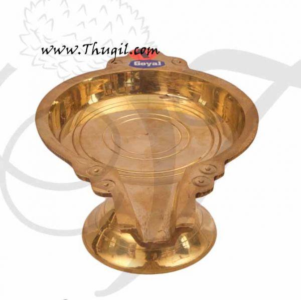 Round Brass Abhishekam Stand Peedam for Hindu Statues Deities Buy Now 9
