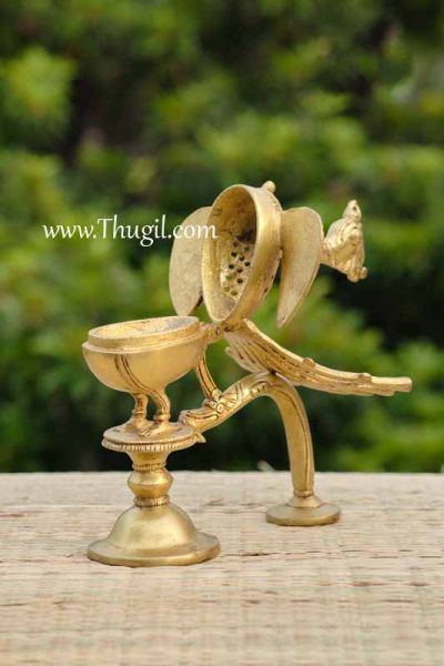 Agarbatti Brass Dhoop Stand In Peacock Pooja Incense Sticks Holder Buy Now