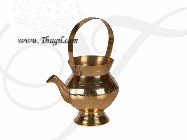 Brass Kindi Brass Kamandalu Holy Water Gangajali Lota Kalash Sacred Water Buy now 3
