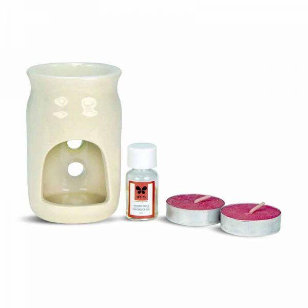 IRIS Ceramic Fragrance Vaporizer Diya Indian Gift Buy Now