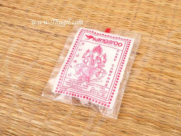 20 gms Kangaroo Pure Camphor Tablet Karpooram Puja Karpur Buy Online Now