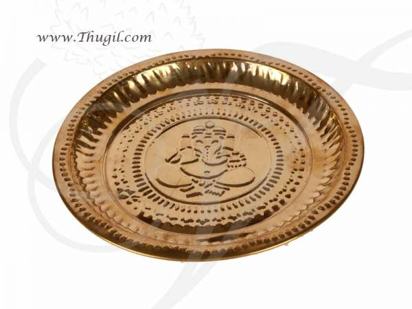 Brass Pooja Plate Ganesha Thattu Buy Now 8