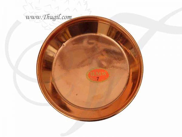 Copper Pooja Plate Deity Daily use Thattu Buy Now 5.5