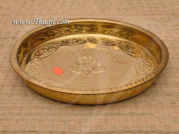 Brass Pooja Thamboolam Plate Ganesha Design Thattu Buy Now 12 inches