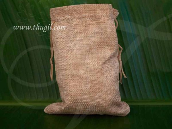 Wedding Return Gift Jute Pouch Potli Bag Thamboolam Bags - 8 x 6 Buy Now