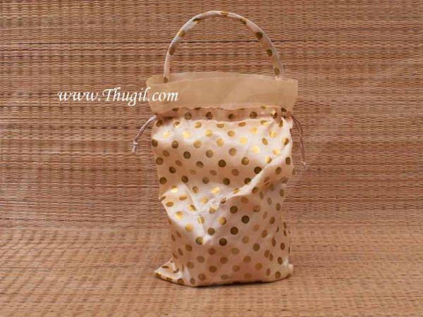 Wedding Return Gift Pouch Potli Bag Thamboolam Bags Half White Colour - 14 x 9 Buy Now