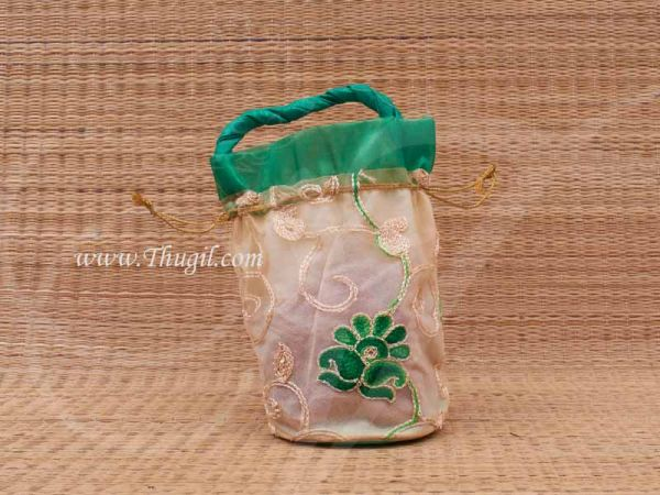 Wedding Return Gift Pouch Potli Bag Thamboolam Bags Net - 9 x 7 Buy Now