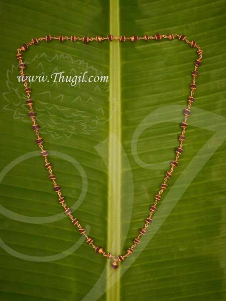 Rudraksha mala golden Cap Beads Buy Now 14