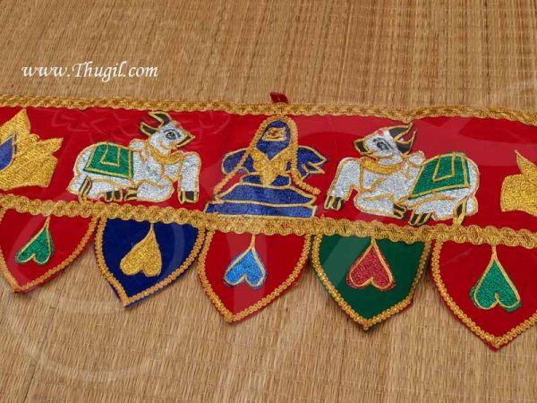 Sivan Lingam Entrance Decorative Cloth Vasal Thoranam Temple Buy Now 35