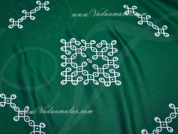 Kolam Backdrop in Cloth Indian Theme background - 6 feet