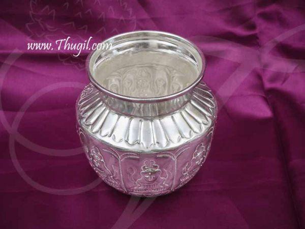 German Silver Ashtalakshmi Kalasham Sombu Buy Now 4 inches