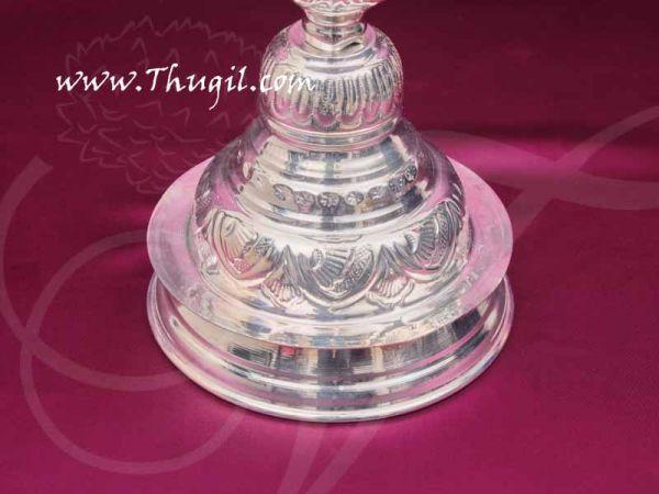 German Silver Peacock Lamp Diya 14 inches Buy Now