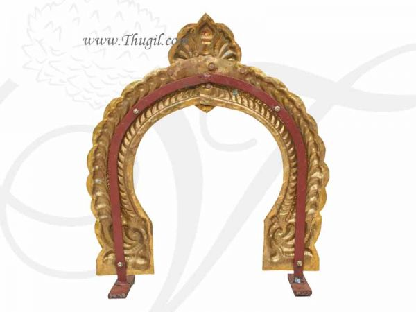 1 feet Hindu Temple Prabhavali Brass Thiruvachi Arch Gold Plated Buy Online