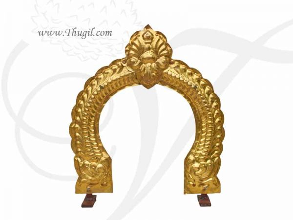18 inches Hindu Temple Prabhavali Brass Thiruvachi Arch Gold Plated Buy Online