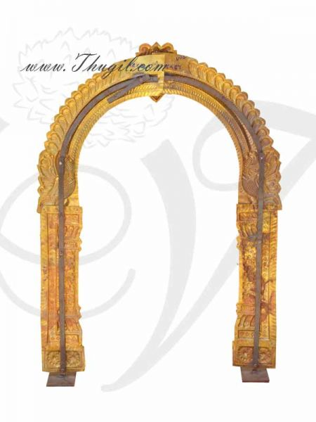 4 feet Temple Prabhavali Brass Thiruvachi Arch deity Idols Decorations Buy Online