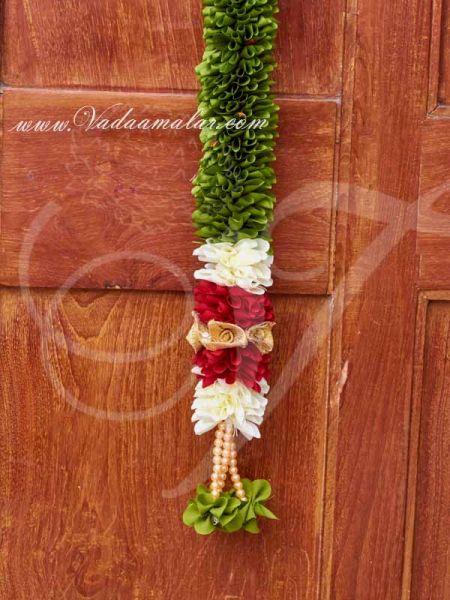 Green Leaf and Flower Indian Doorway Thoran Thoranam Buy now
