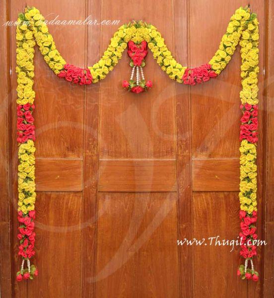 Rose Toran Yellow Maroon Door Window Deocration Hanging Buy Now 10 feet