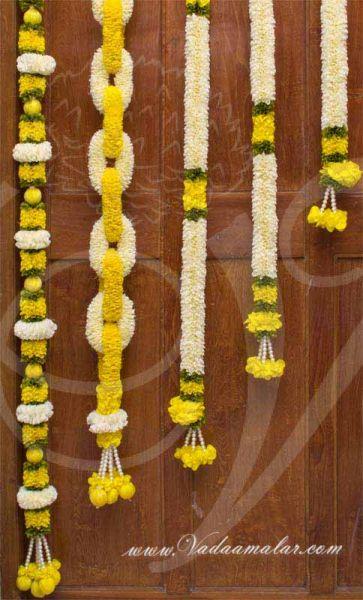 Flower Arrangement with Kolam Backdrop Flex Banners 6 feet x 5 feet