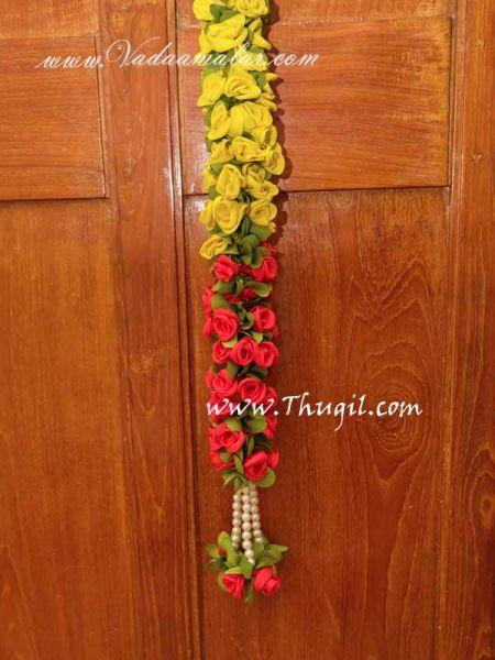 Yellow Rose Flower Toran Door Hanging Decoration Buy Now 1 Meter