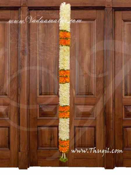 Thick Flower Toran Thoranam Festival Mandap Hall Decorative - 1 meter