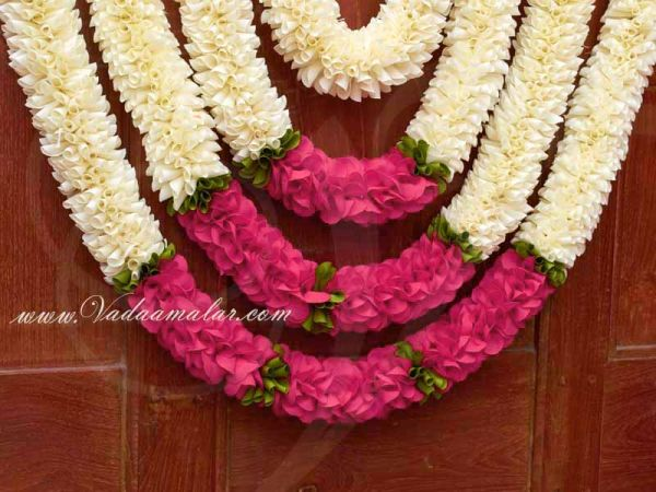 Jasmine with pink design decoration for Weddings Venue Toran Available Buy Now