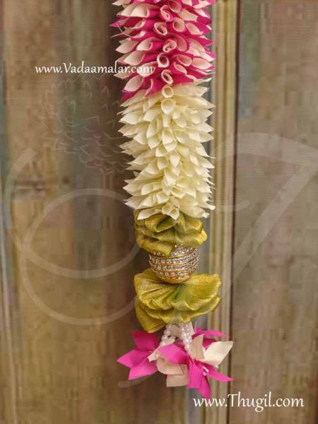 Door Decoration Toran Thoranam Hanging Synthetic Flowers Buy Now 72 Inches