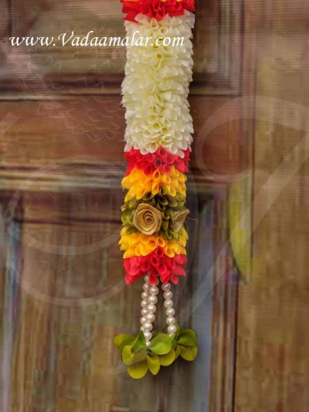 Flowers Door Decorative Garland Synthetic Indian Floral Design Buy now  98