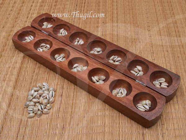Buy Pallanguzhi Wooden Pallanguli Set Indian Board Game Online Now